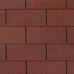 Close up photo of GAF's Royal Sovereign Russet Red shingle swatch